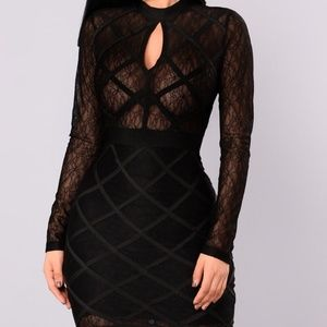 Fashion Nova - Black Bandage Dress